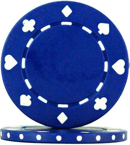 Afbeelding van het spel Pokerchip Playing Cards Suit 11.5 gram Blauw