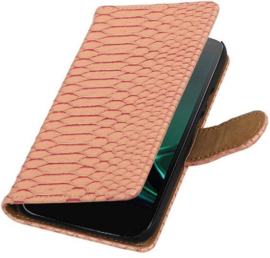 Motorola Moto G4 Play cover book case slang roze in Reijmerstok