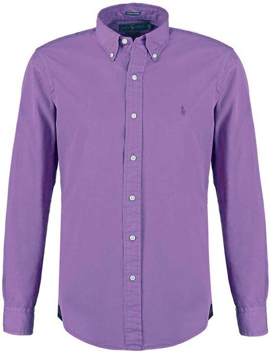 Paars Heren Overhemd.Bol Com Polo Ralph Lauren Heren Overhemden Poplin Slim Fit Shirt