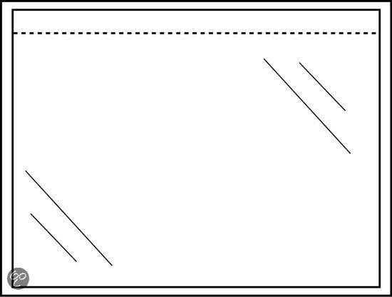 Raadhuis paklijstenvelop 160x110mm A6 50 micron blanco