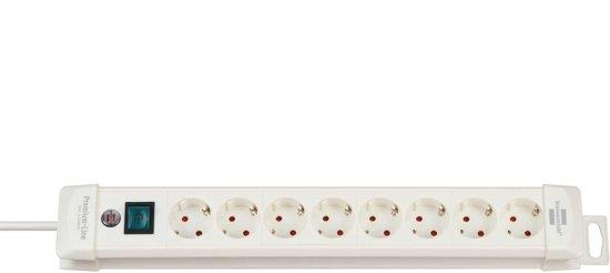 Brennenstuhl Premium-Line 8-voudige stekkerdoos - wit - 3 meter