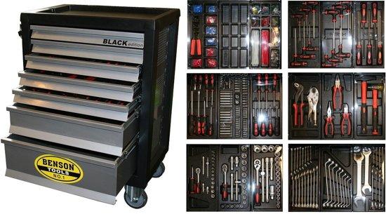 Gereedschapswagen 1121-Delig Black Edition Met 7 Laden