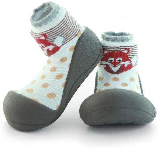 Attipas ZOO bruin babyschoenen, ergonomische Baby slippers, slofjes maat 21,5,  12-24 maanden