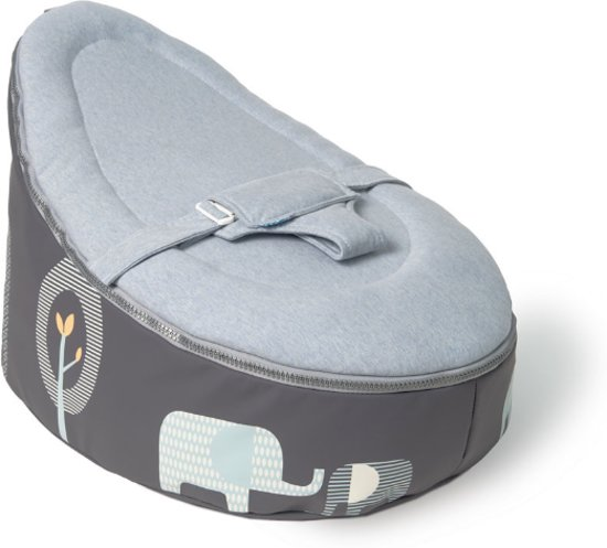 Doomoo Zitzak Rood.Doomoo Seat Baby Zitzak Elephant Blue