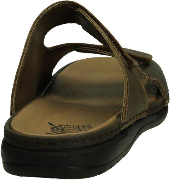 Bruin 25 Comfort tabak 44 Heren Slippers Maat 25592 Rieker Bvqw7Raa