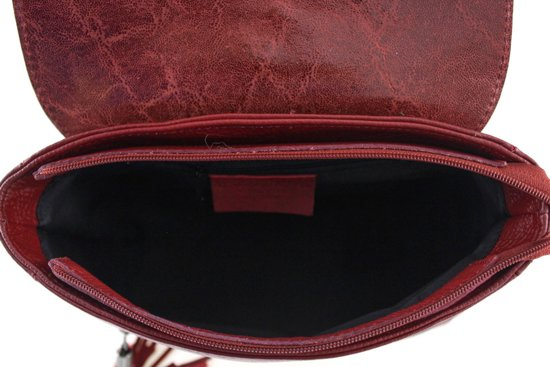 travelbag Italiaans Rugzak Zula Leder In tas Rosso q6q5t