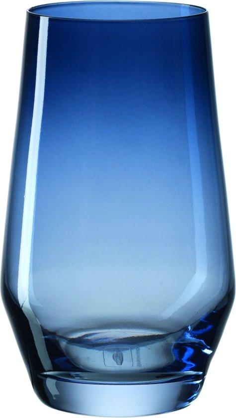 Leonardo Puccini - Longdrinkglas - donkerblauw - 6 stuks