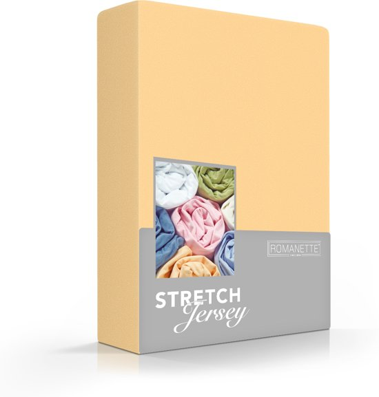 Comfortabele Jersey Hoeslaken Mosterd Geel   150x220   Rondom Elastiek   Dikke Kwaliteit