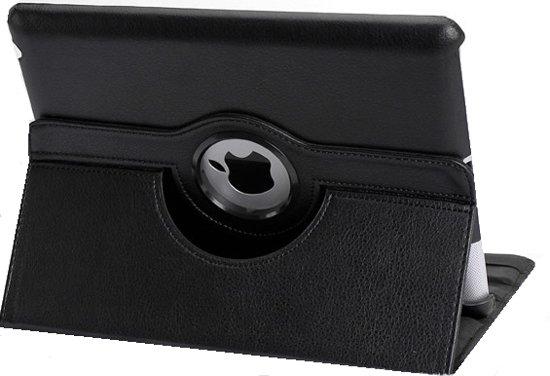 iPad Air 1 – 360 Graden draaibare Hoes – Lederen  – Zwart