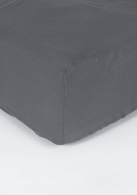 Pierre Cardin Verkoelend hoeslaken 90x200 + 28 - Gemengd katoen - Grijs