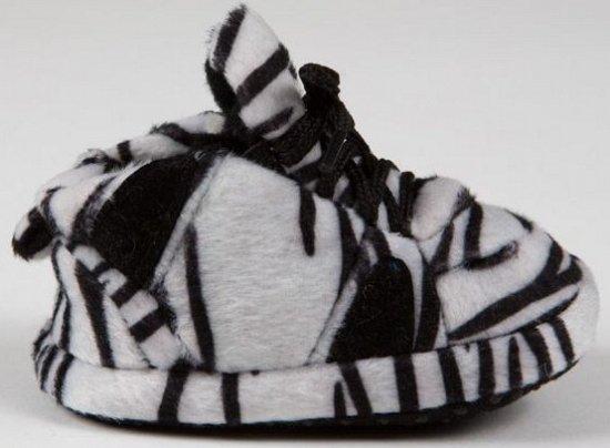 Baby sneaker slofjes zebra zwart/wit