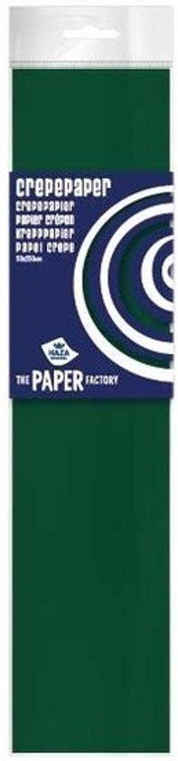Crepe papier plat donkergroen 250 x 50 cm - Knutselen met papier - Knutselspullen