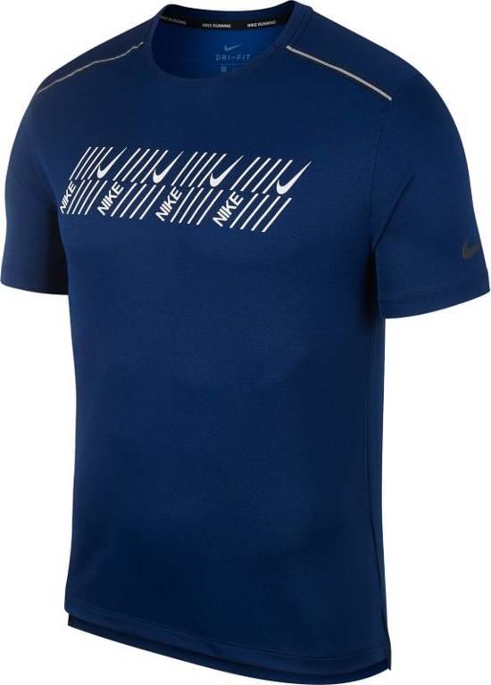 Nike Df Miler Tech SS Capsule Sporttop Heren - Blauw