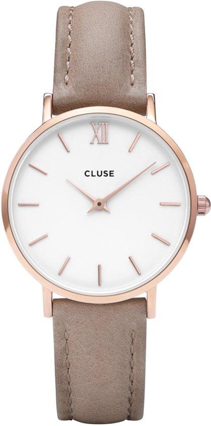 CLUSE CL30043 Minuit Rose Gold White Hazelnut horloge