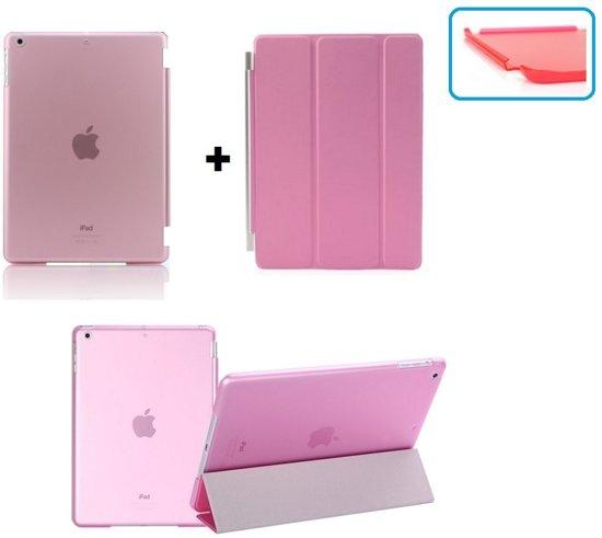 Apple iPad Mini 1, 2, 3 Smart Cover met/inclusief Achterkant Back Cover Hoes Roze/Pink Smartcover combinatie hoesje Companion Case Full Body   BetaalbareHoesjes.nl in Ubachsberg