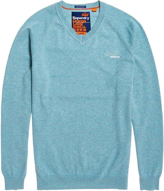Superdry Blauw Label L Cotton Mannen Orange SporttruiMaat Donker mN08nw