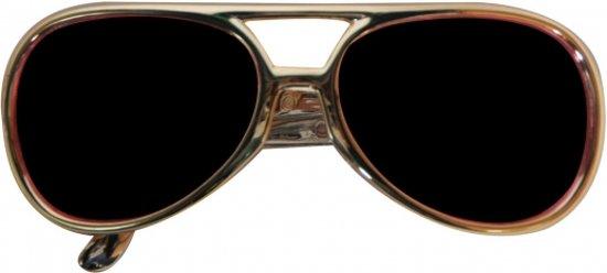 Mega grote Elvis zonnebril  Geel