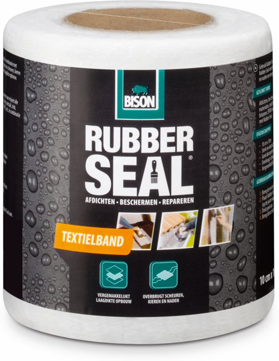 Bison Rubber Seal Textielband - 10 cm x 10 m
