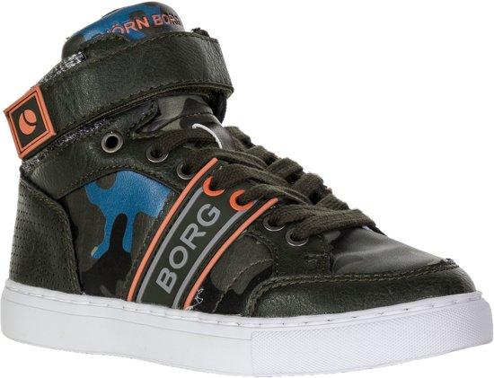 blauw Bjorn Unisex Cam Junior T210 Sneakers SportschoenenMaat Borg Mid Groen oranje 36 XOPZkuwiT