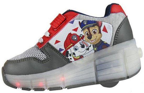 paw patrol sneakersrolschoenen maat 28 schoenen met wieltjes en led verlichting voor