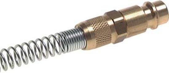 Messing DN 7.2 (Euro) Luchtkoppeling Insteeknippel 4x6 mm Push-On Buigbescherming - CLP7-NPS-B-4