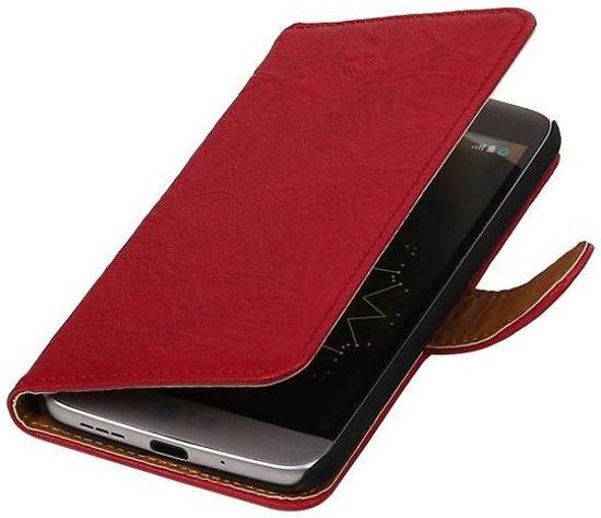 Mobieletelefoonhoesje.nl - LG L70 Hoesje Washed Leer Bookstyle Roze in Koekelare