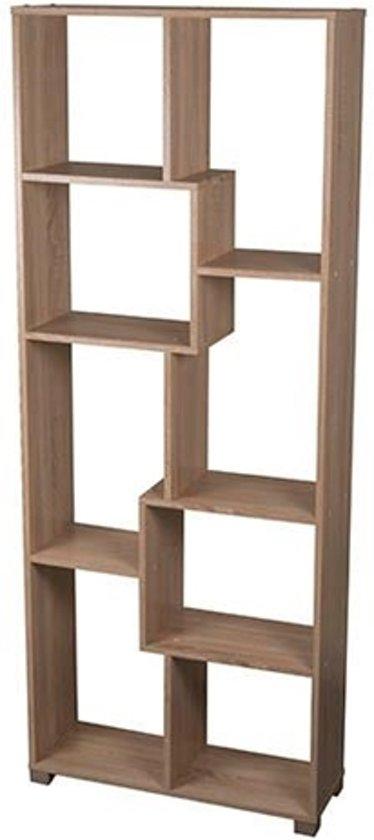 home style vakkenkast wandkast eiken boekenkast kast 70x24x178cm