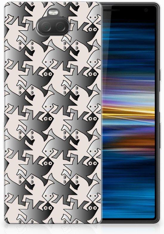 Sony Xperia 10 Uniek TPU Hoesje Salamander Grey