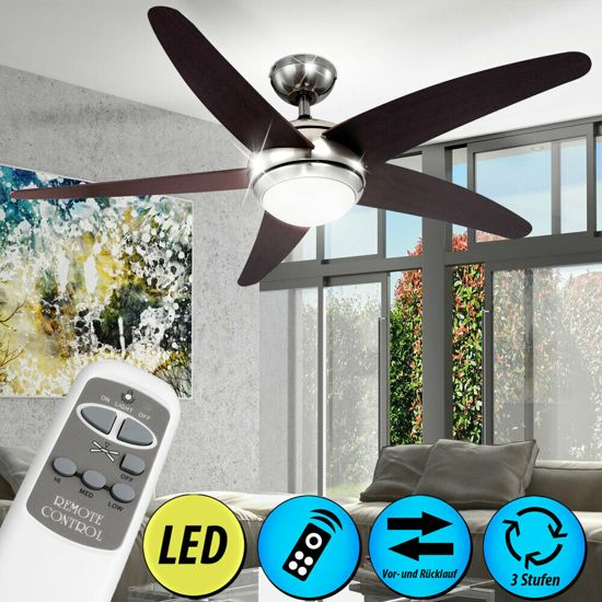 - Plafondventilator - LED Verlichting - Afstandbediening