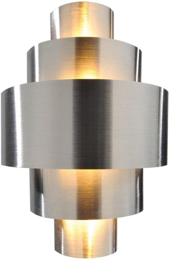 Zoomoi Perfil - wandlamp zilver binnen - woonkamer - modern - Wandlamp - E14 - Geschikt voor LED - chroom