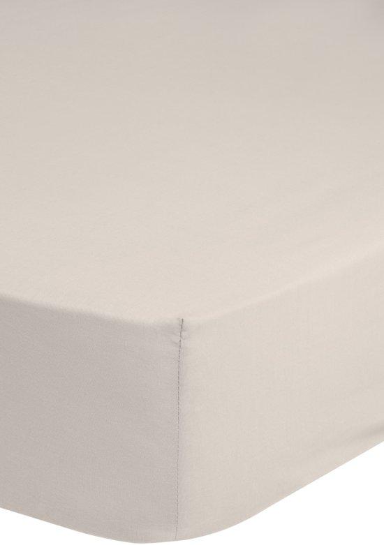 Hoogwaardige Katoenen Hoeslaken Gebroken Wit - 180x220 - Fijn Geweven - Ademend En Comfortabel