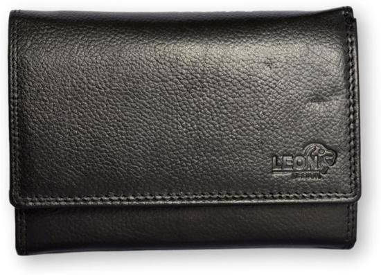 b0cd55bcc66 bol.com | LeonDesign - 16-W04-04 - zwart - damesportemonnee - echt leder