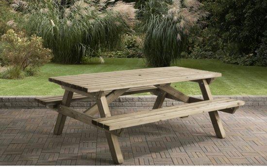 Van Talen - Picknicktafel 8-10 personen - Vuren - 160 x 200 cm