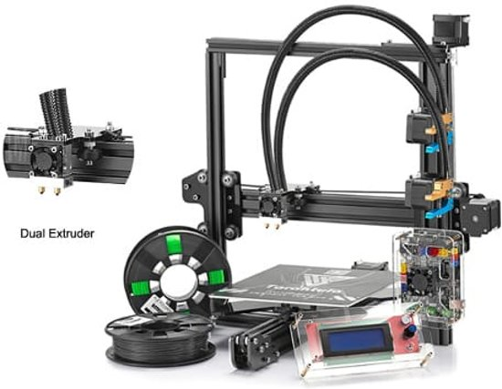 Prusa i3 Pro C - Dual Extruder zelfbouw 3d printer / Reprap + heated bed
