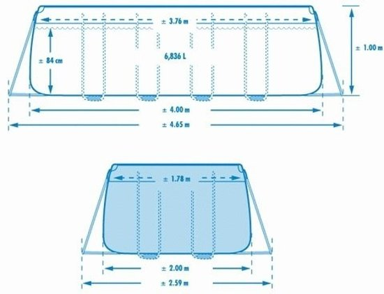 Intex Rectangular Ultra Framepool - 975 x 488 x 132 cm