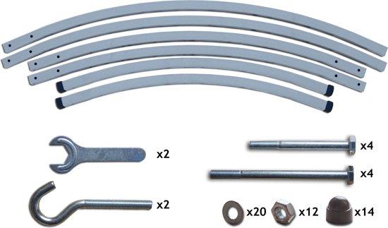 Potenza Prime 36- Tweepersoons hangmatstandaard /2-persoons hangmat standaard inclusief hangmatbevestingsset - Aluminium