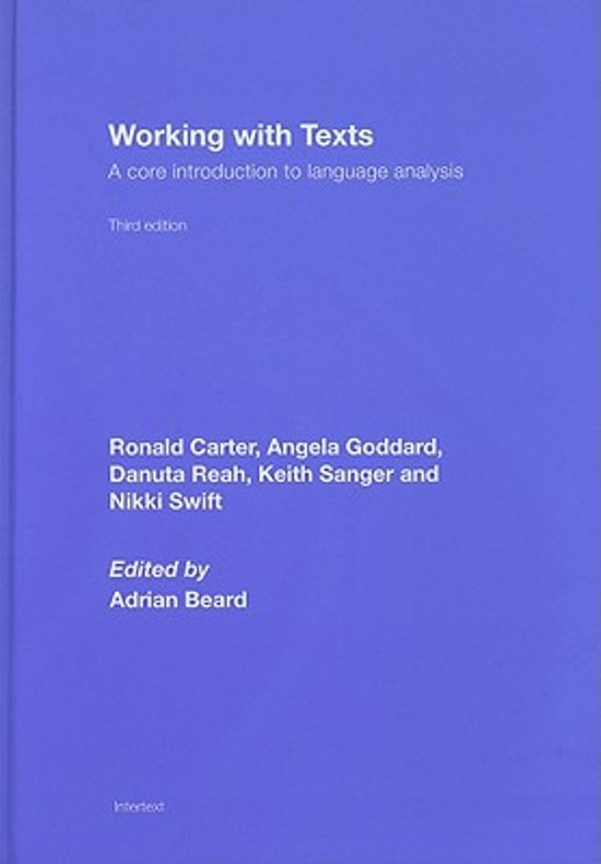 Working with Texts