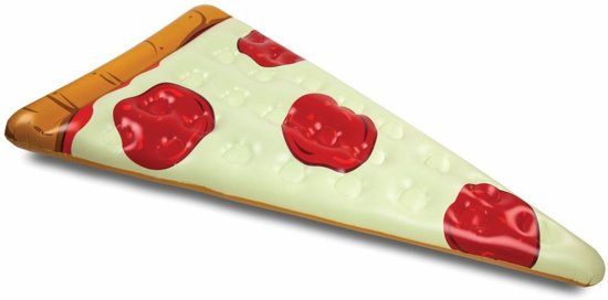 Pizza Punt luchtbed – Pool Float Pizza Punt - Big Mouth opblaas luchtbed – 180 cm.