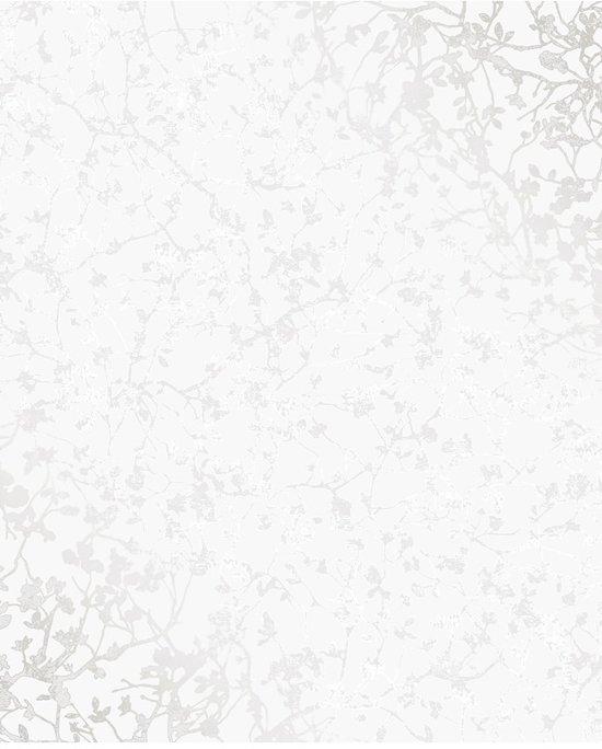 Essence Thorn wit/zilver behang (vliesbehang, wit)
