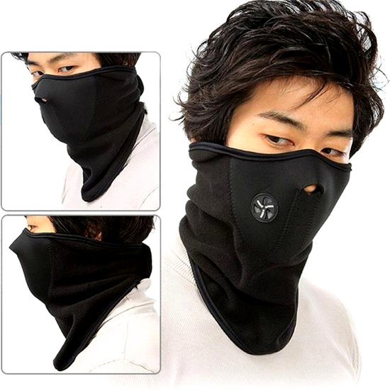 Sjaal Bandana Masker - Zwart