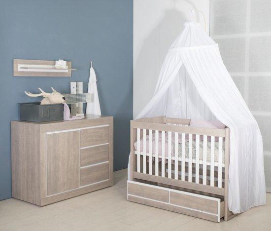 Babykamer Wit Grijs.Bebies First Babykamer Colorado 2 Delige Ledikant Commode Grijs Wit