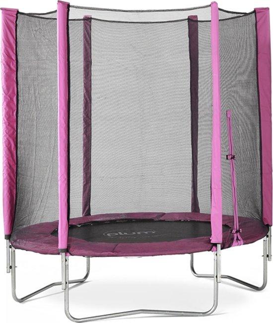 Trampoline met veiligheidsnet Plum Junior roze 6ft