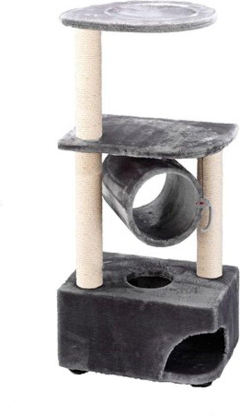 KRABPAAL CLASSICTREE TUNNELHOME 56X37X120CM GRIJS