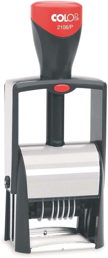 Colop Classic 2106/P Zwart   Cijferbandstempel bestellen   Stempel met eigen tekst en draaibare cijfers   Bestel nu!