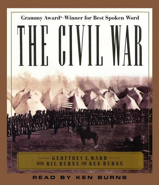 Boek cover The Civil War van Geoffrey C. Ward (Onbekend)