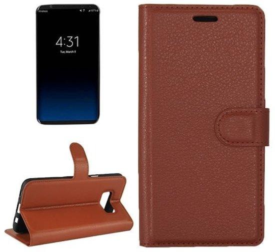 Samsung Galaxy S8 Plus - Litchi Wallet Case - Bruin
