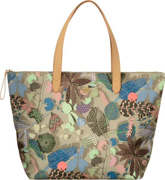 Oilily Botanic Pop - Shopper - Nori Green