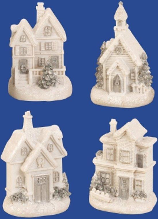 bol.com | Kersthuisjes - Kerstdorp - Huisjes met verlichting set van ...