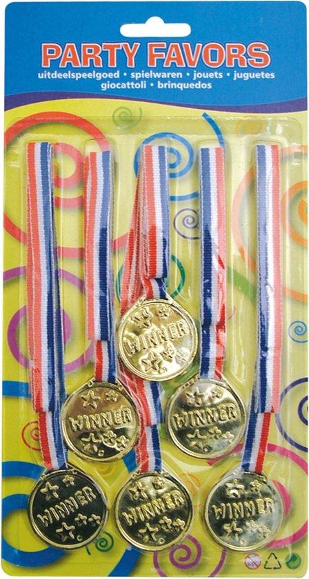 Medailles 6st op blister