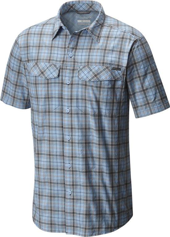 grijs Sleeves Multi Heren Mouwen Ridge Geruit Korte Shirt Blauw Short Blouse Silver Plaid Maat Columbia L qR4T66